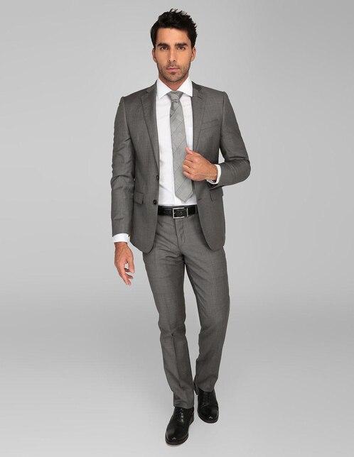 Traje Calvin Klein corte slim fit lana gris cc9d497a1d2